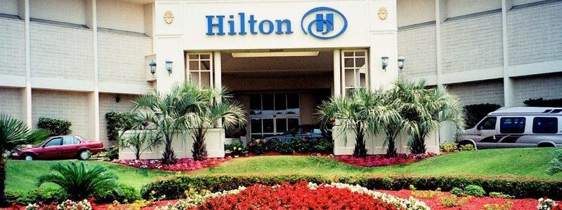 Hilton entrance